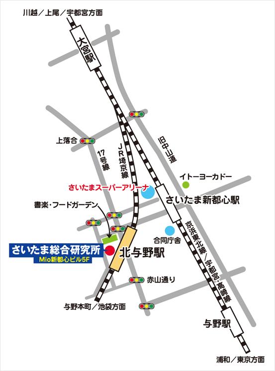さいたま総合研究所の地図